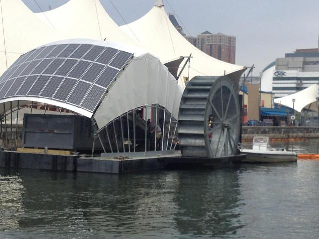 Inner Harbor Water Wheel
