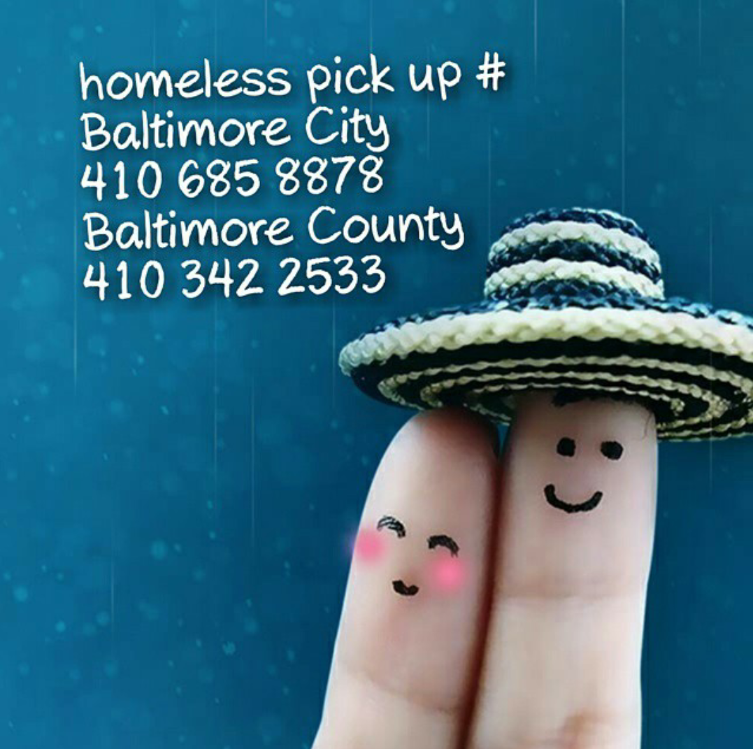 Baltimore Homeless Pickup Number